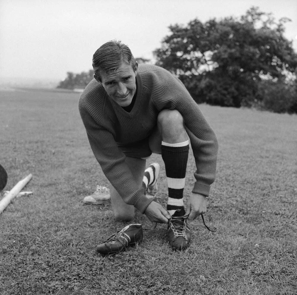 Malcolm Allison in his West Ham playing days, August 1958