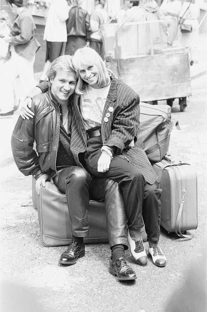 Bread stars Rita Tushingham (Celia) and Peter Howitt (Joey), July 1987