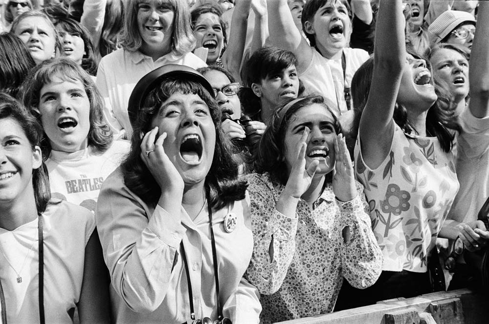Fans go wild in New York as the Beatles tour the USA, August 1964