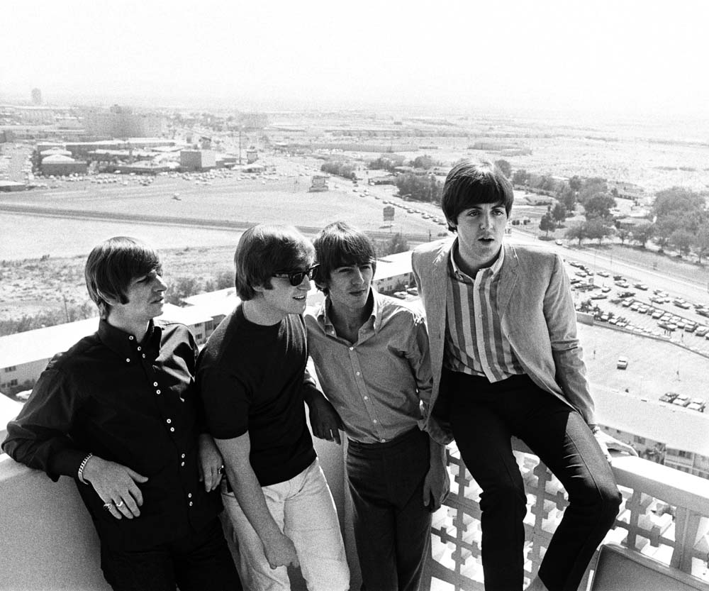 The Beatles on the roof of the Sahara Hotel, Las Vegas, August 1964