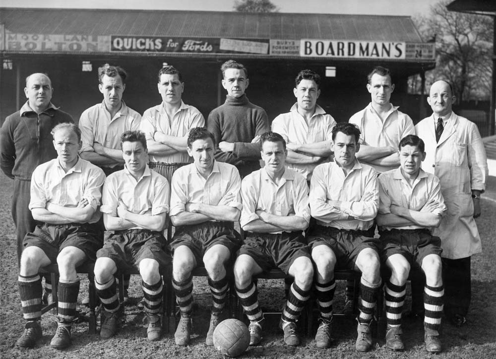 Bury Football Club's line-up for the 1952-3 season