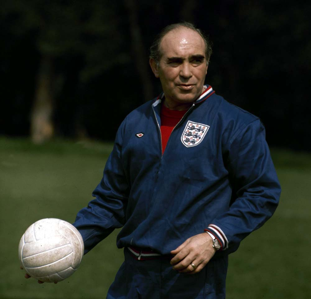 Former England manager Sir Alf Ramsey, December 1974