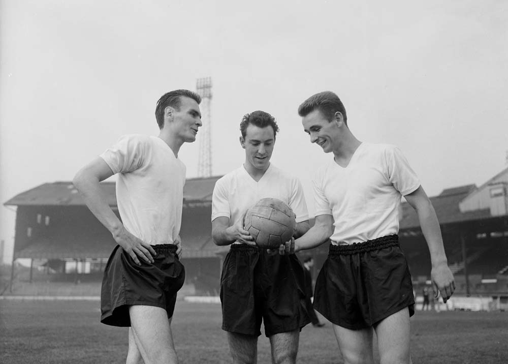 Greaves and Brian Clough as England players, October 1959