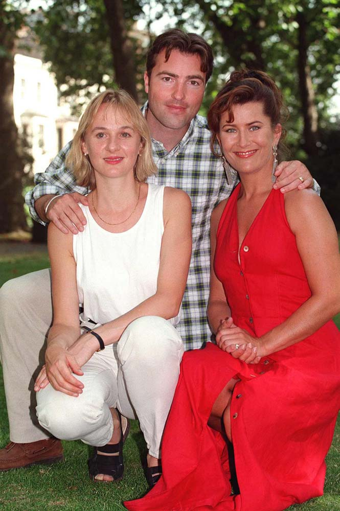 Kazia Pelka, right, in Heartbeat with Nick Berry and Niamh Cusack, August 1995