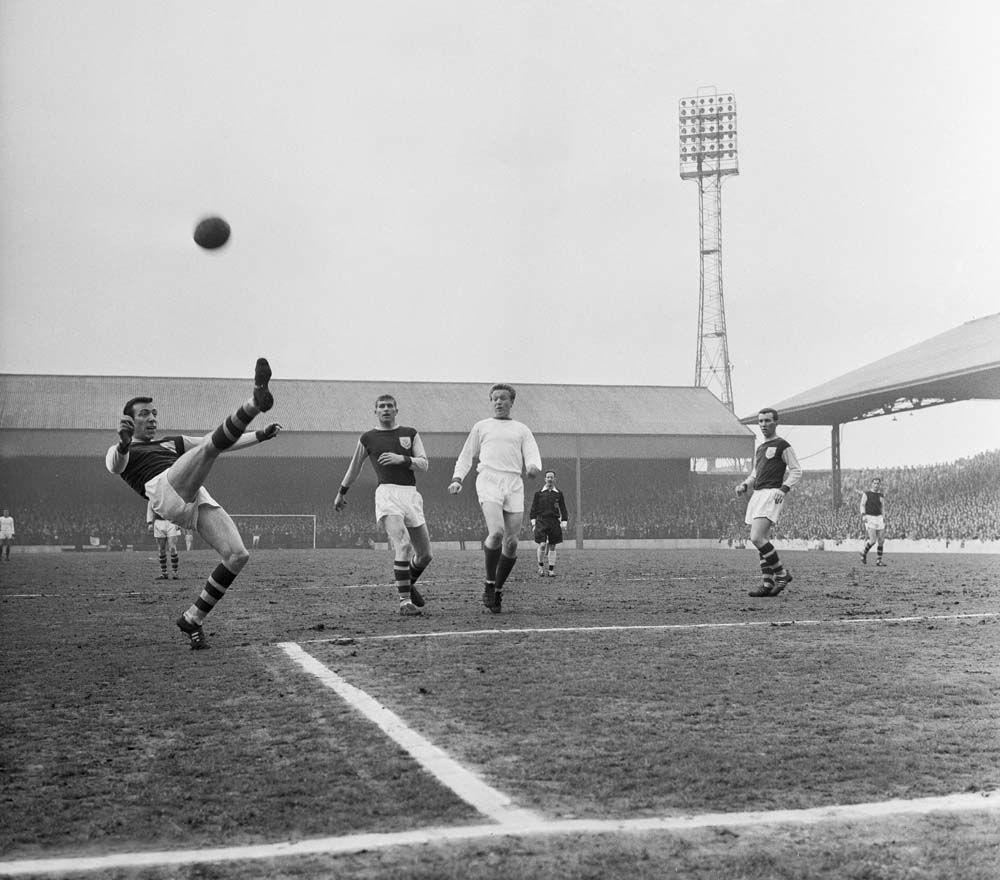 Quixall in action v Burnley, May 1963