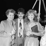 Sue Jenkins, right, with Jean Alexander and Michael Le Vell, December 1985