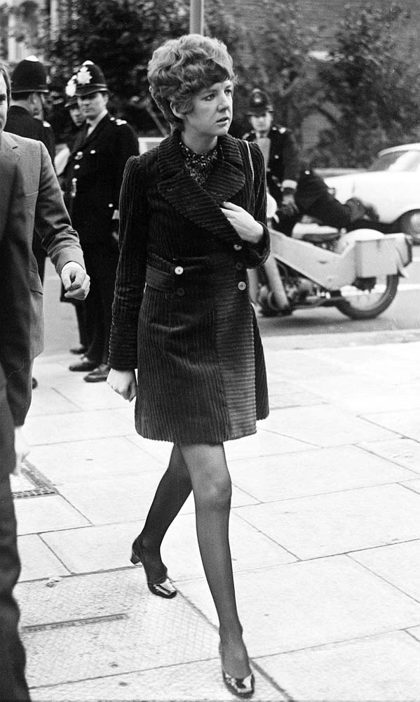 Cilla Black at Brian Epstein's memorial service, October 1967
