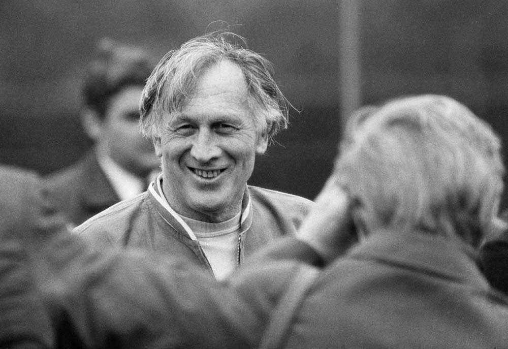 Joe Mercer's first day in charge of the England team, May 1974