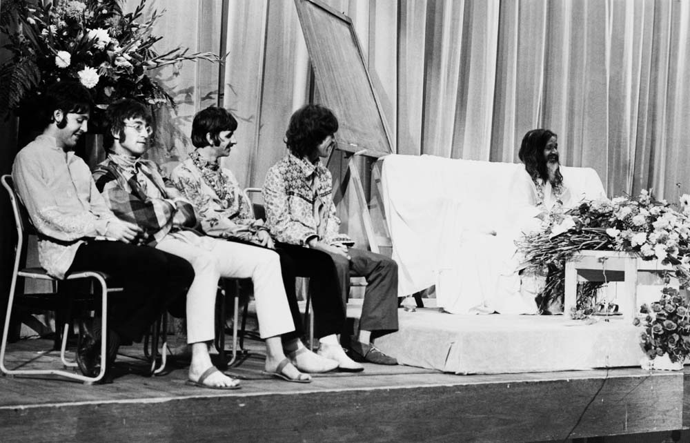 The Beatles with the Maharishi days before Brian Epstein's death, August 1967