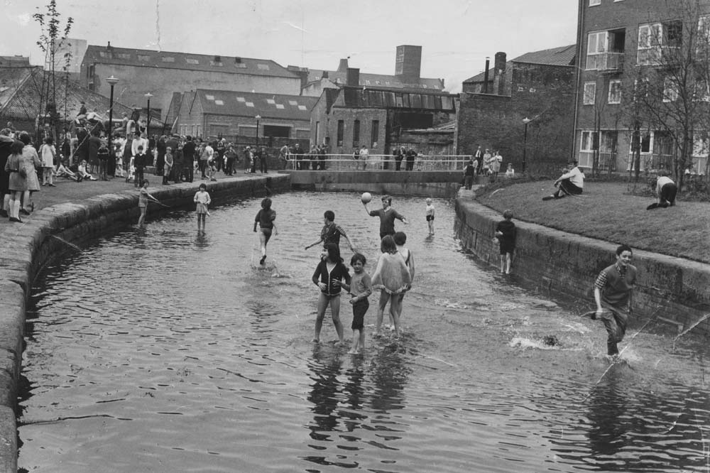 Rochdale Canal at Ancoats Then