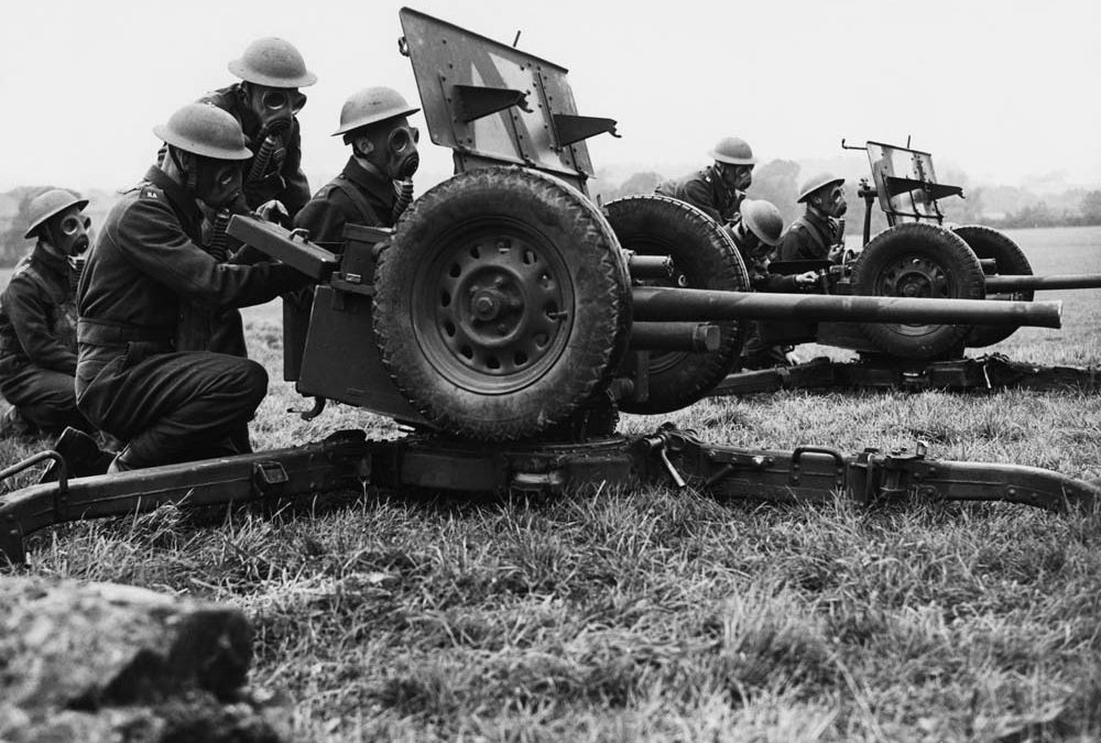 Anti-tank gun crews in training near Manchester