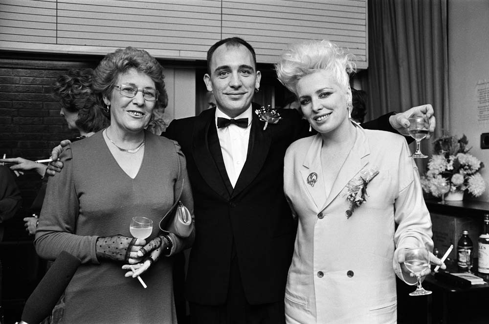 Frank Clarke with mother Frances and sister Marji at the Liverpool premiere of Letter to Brezhnev, October 1985
