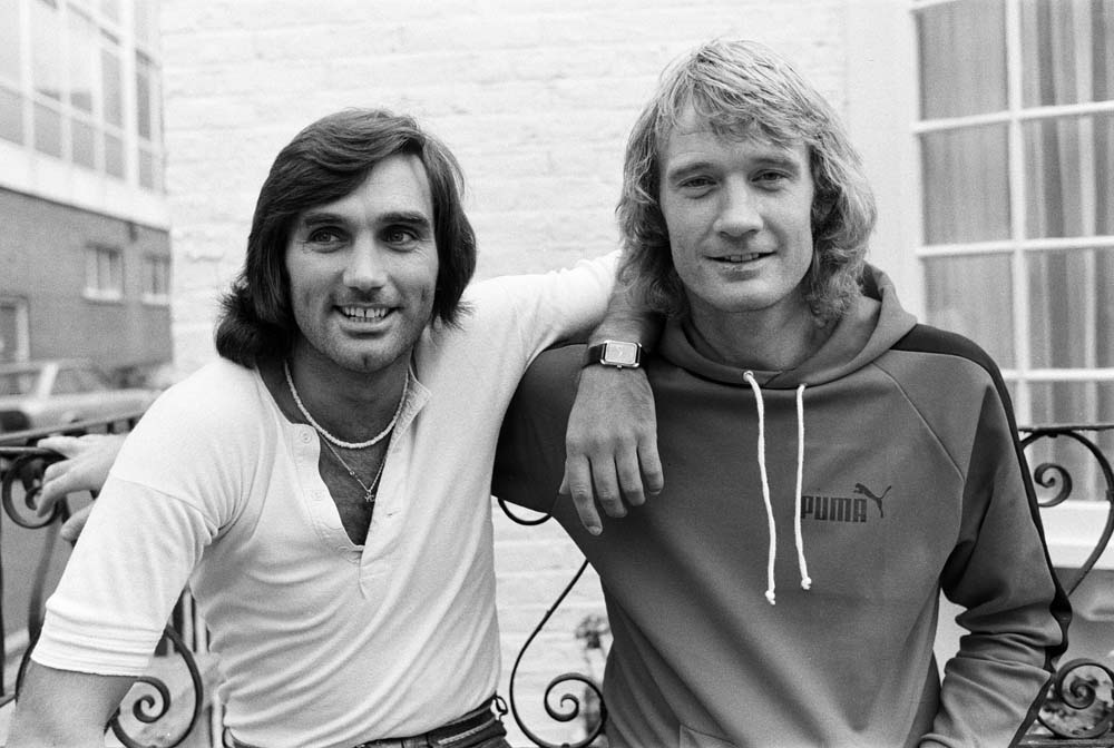 George Best and Rodney Marsh ready to play for Fulham, September 1976