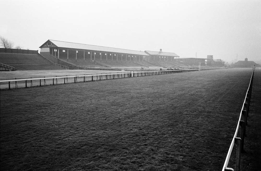 The Castle Irwell course before its final race meeting, November 1963