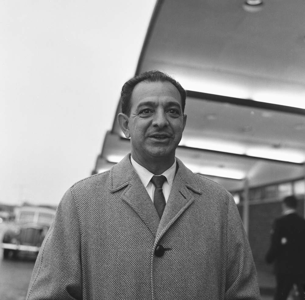 Renowned boxing trainer Angelo Dundee at Manchester airport, November 1964