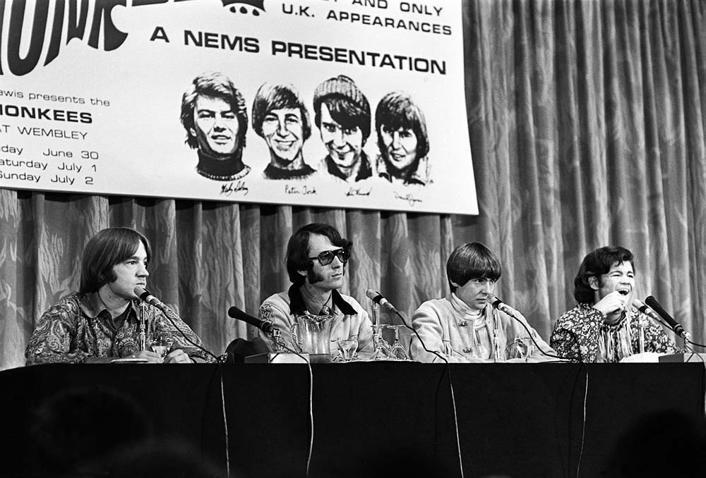 The Monkees' press conference on their UK tour with NEMS, June 1967