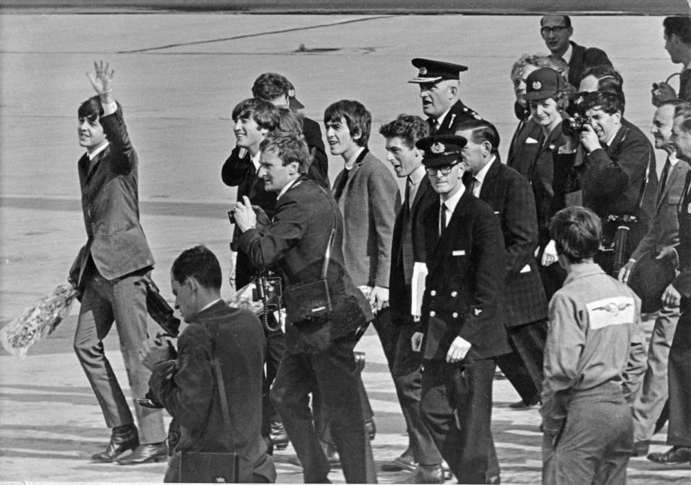 Homecoming: The Beatles land at Heathrow after their US tour, February 1964
