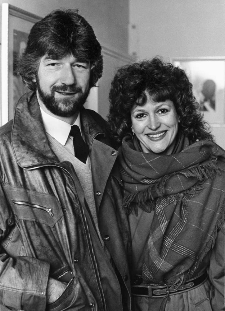 Shirley Valentine writer Willie Russell with singer and actress Barbara Dixon, January 1983