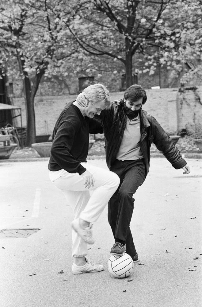 An impromptu kickabout for Rodney Marsh and George Best, November 1987