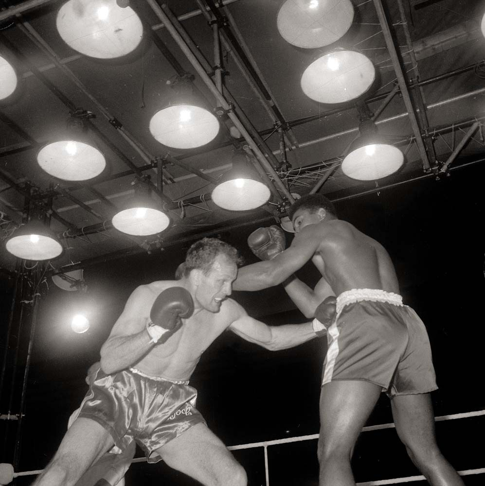 Henry Cooper in action against Muhammad Ali, June 1963