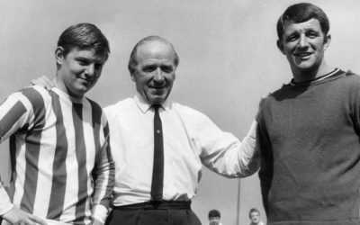 Matt Busby welcomes returning players to Old Trafford