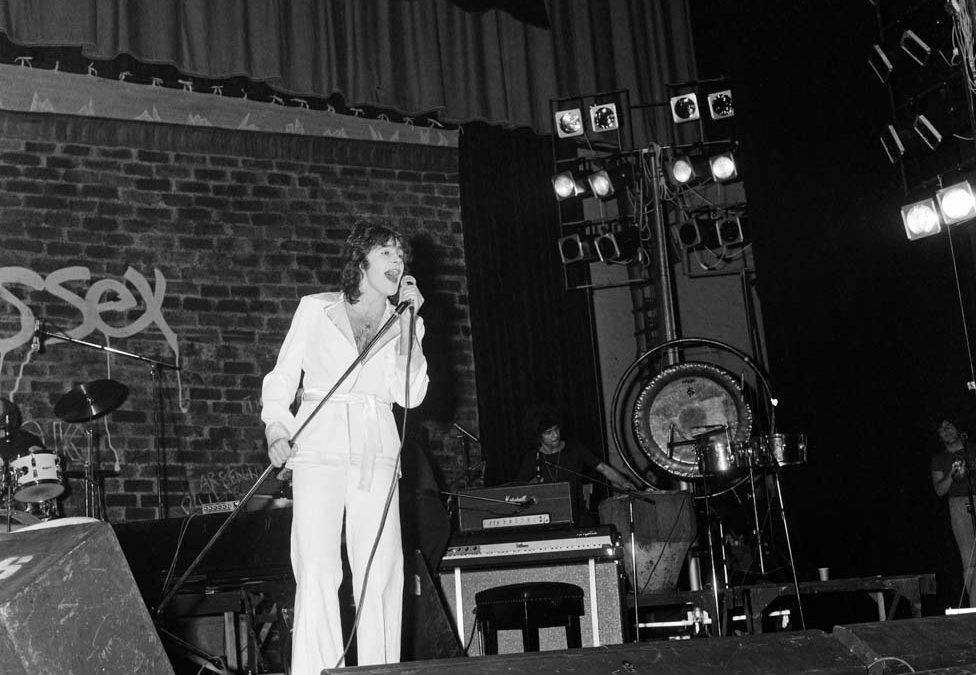 David Essex on stage at the Empire, November 1974