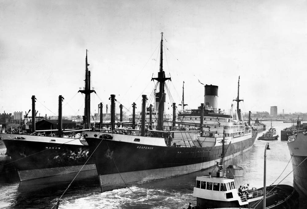 The Blue Funnel Line's Agapenor was just one of many cargo liners in the British Merchant Navy