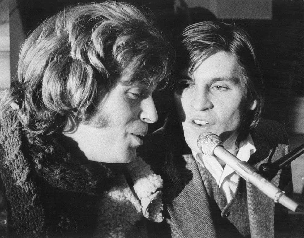 Georgie Fame with singing partner Alan Price, January 1970