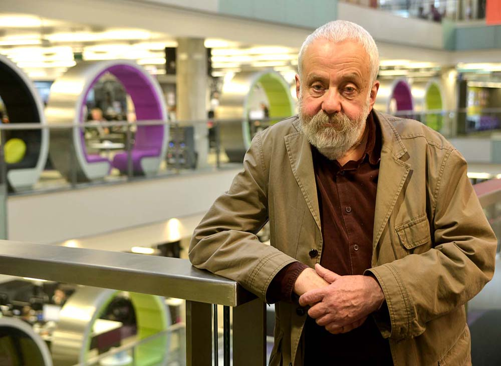 Movie director Mike Leigh, October 2014