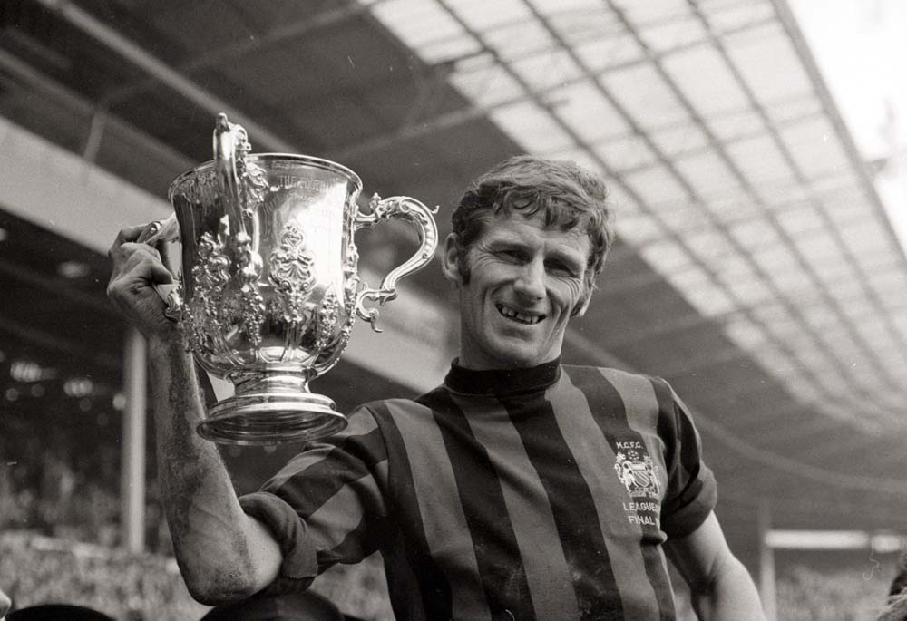 It's City's League Cup after a 2-1 win over West Bromwich Albion in the Wembley final, March 1970