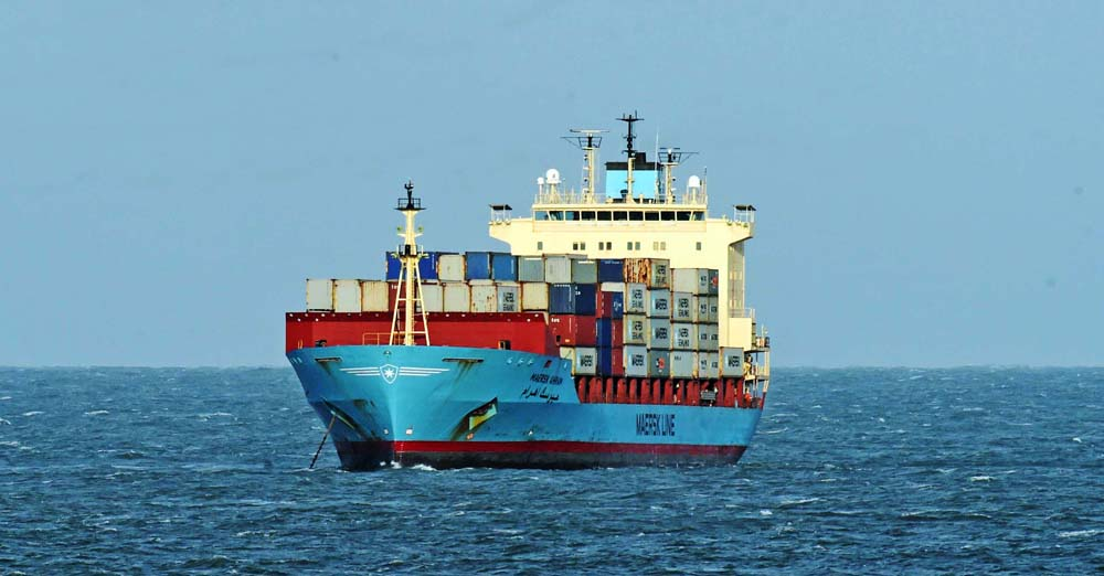 One of Agapenor's successors - a Maersk Line container vessel, January 2018