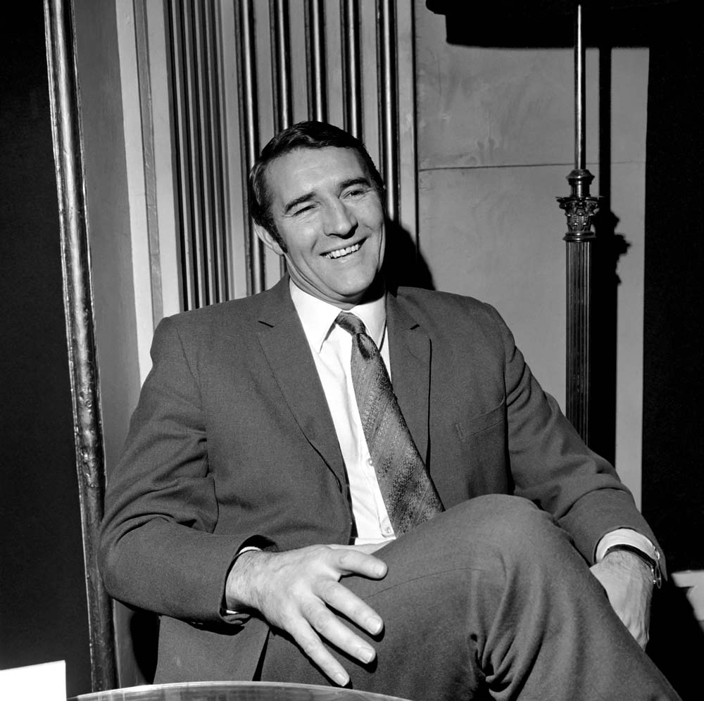 City assistant manager Malcolm Allison relaxing at London's Waldorf Hotel, December 1969