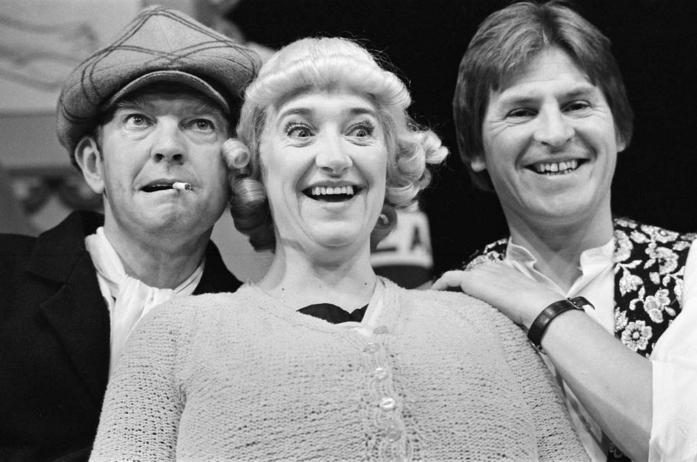 Val McLean and Tom Courtenay in the musical Andy Capp, composed by Alan Price, September 1982