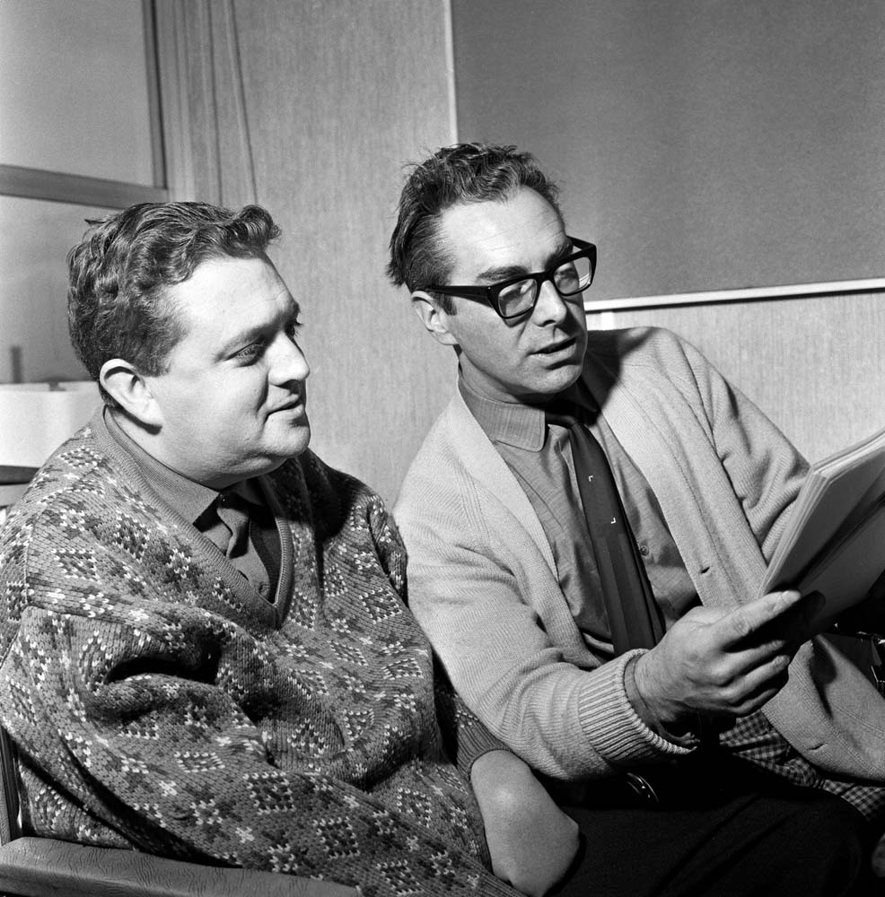 Scriptwriters Harry Driver and Vince Powell