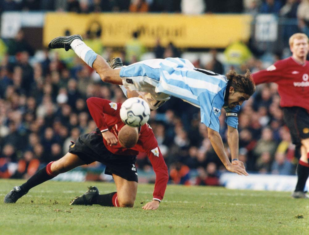 It's ballet at Coventry for Manchester United defender