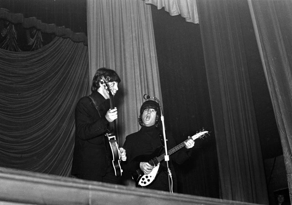 Lennon and McCartney on stage at the ABC, Ardwick, December 1965