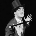 Frankie Vaughan with his trademark cane and top hat, April 1958