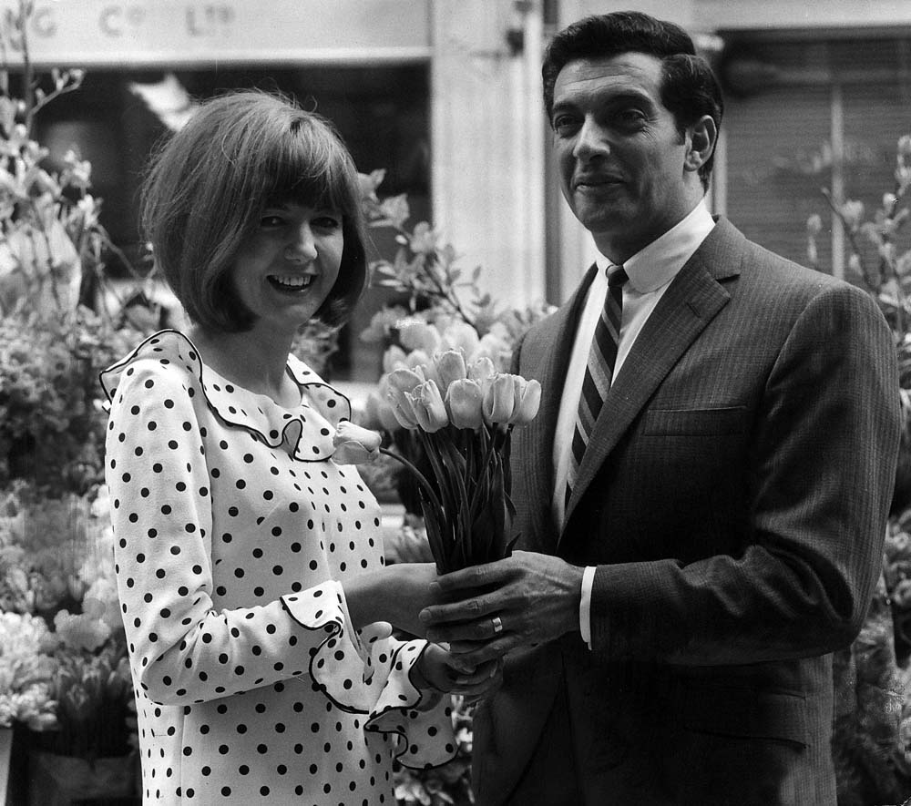 Cilla Black and Frankie Vaughan on the TV series Star Time, May 1964