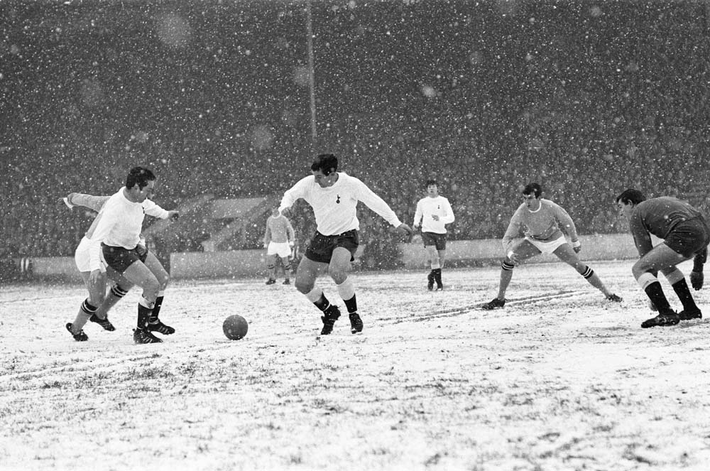 City beat Spurs 4-1 in the famous 'ballet on ice' match at Maine Road, December 1967