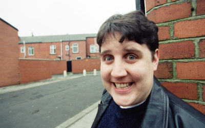 20 years almost to the day, Peter Kay is pictured on the streets of Bolton
