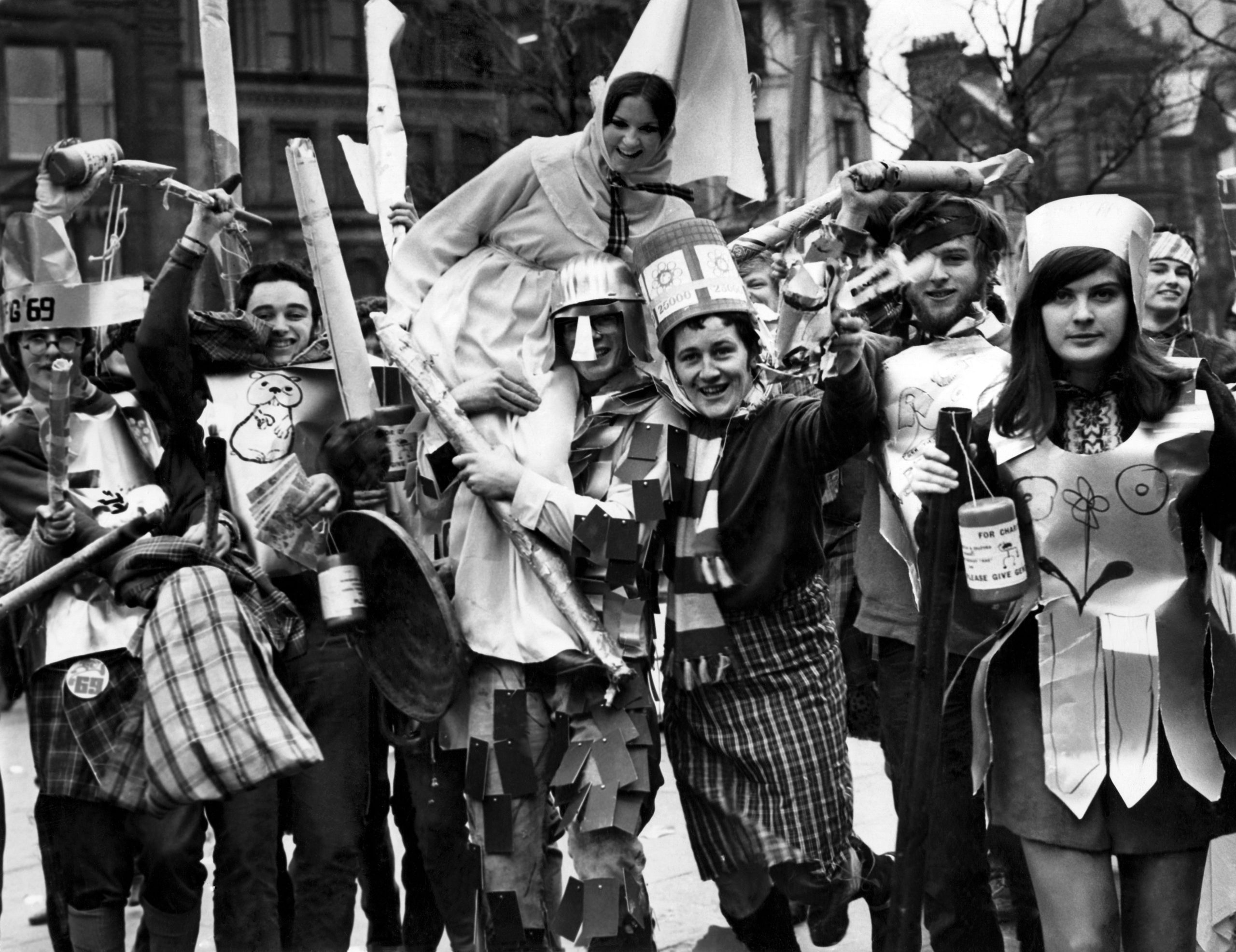 Rag week in 1969, complete with knights, princes, princesses – and damsels in distress.