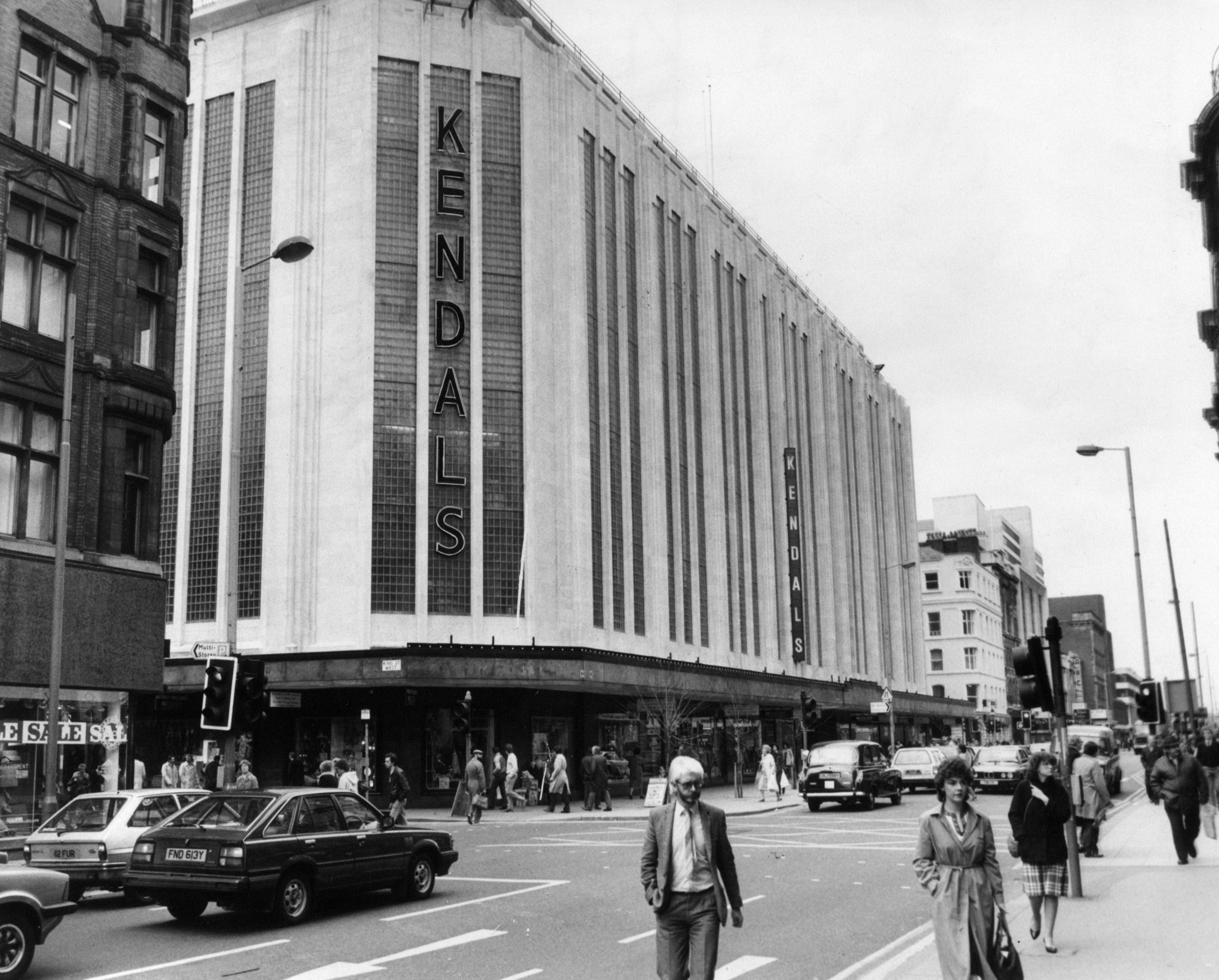 Kendals department store in Deansgate - Then