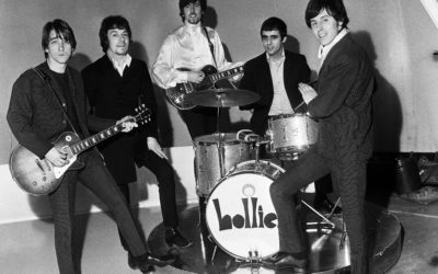 1967: Manchester band the Hollies line up at the ABC studios in Didsbury – Pictured