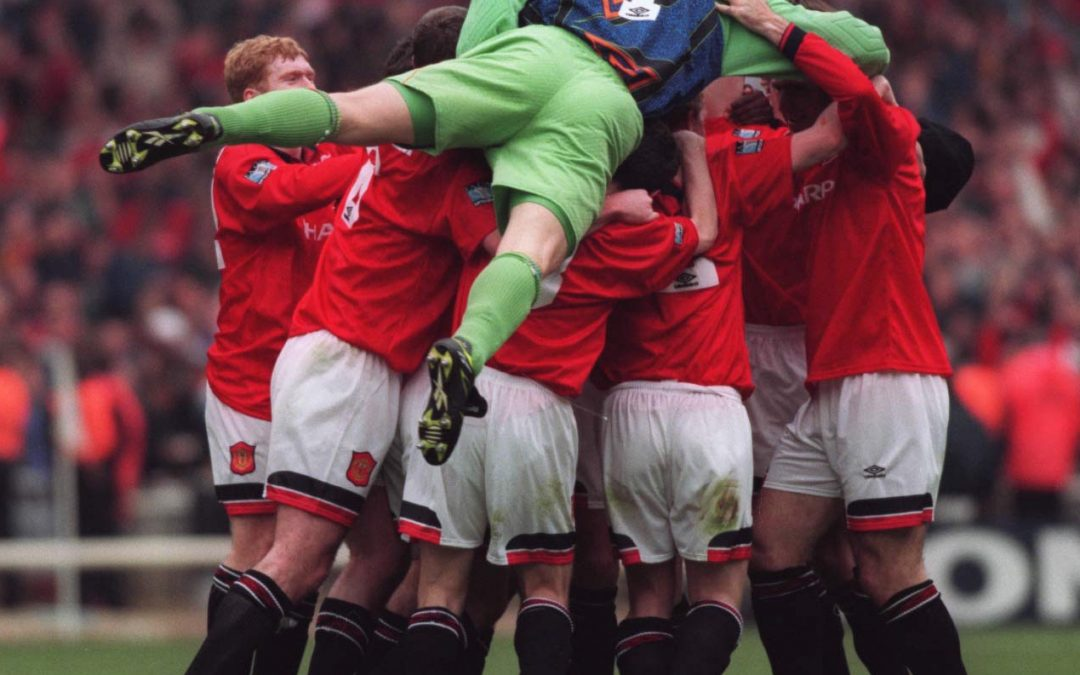 1996: Manchester United beat Liverpool in the 1996 FA Cup Final (pictured)