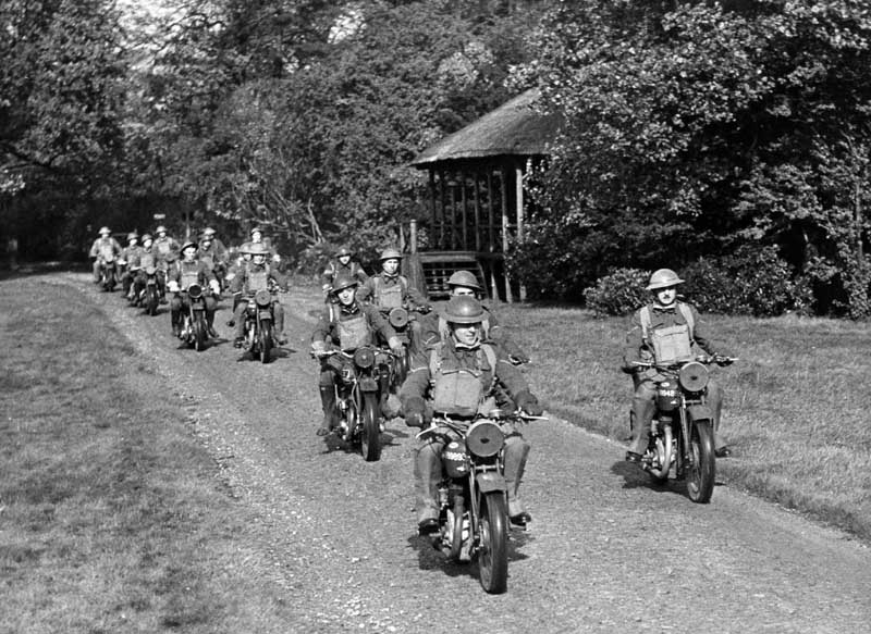Mechanised troops on manoeuvres in the North West, September 1940