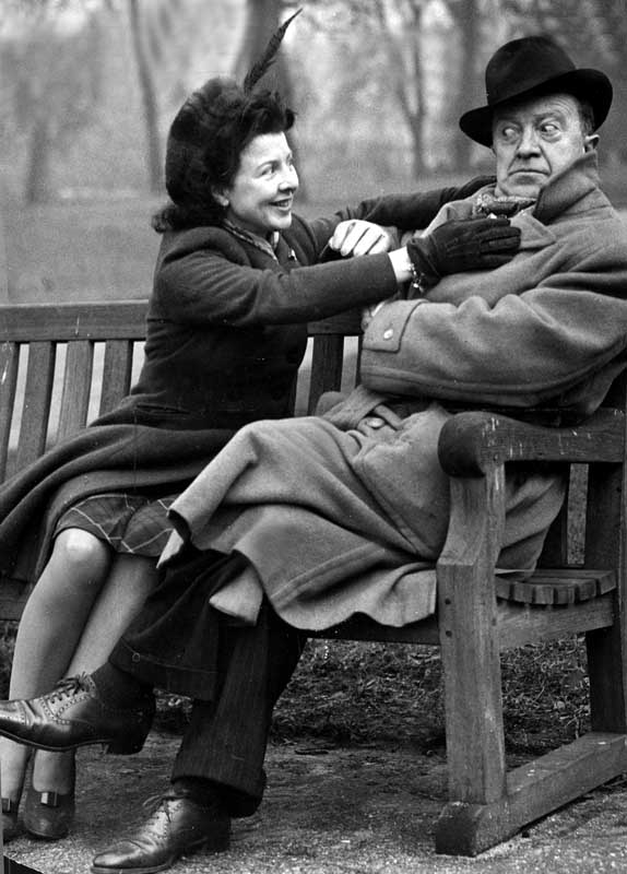 Future Rentaghost star Molly Weir with Tommy Handley, January 1947