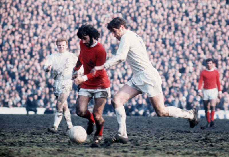 George Best and Norman Hunter fight for the ball in the 1970 FA Cup semi-final