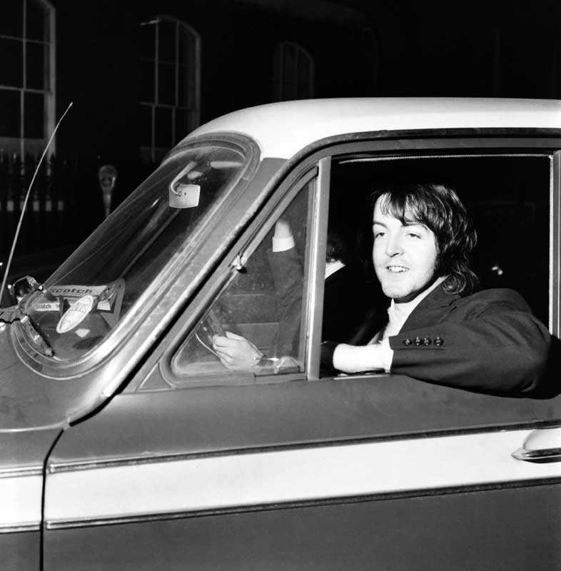 Paul McCartney, who wrote with Elvis Costello, March 1969