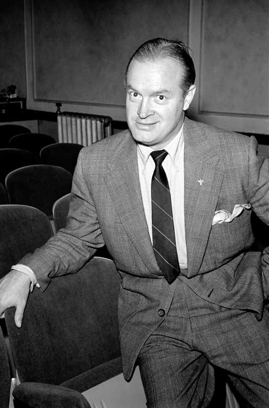 Comedian and actor Bob Hope found ITMA's patter too fast for his taste, August 1952
