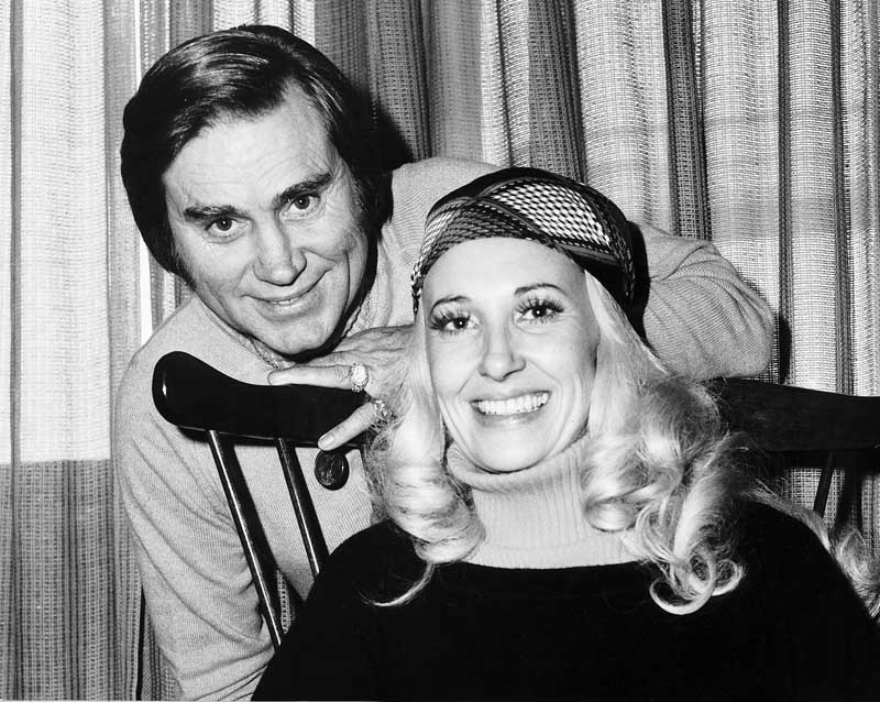 Country singer George Jones with Tammy Wynette, November 1976